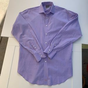 Thomas Dean Large Long Sleeve Light Lavender Shirt
